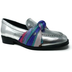 Jeffrey Campbell Bollero Scarf Loafers Sz 6.5